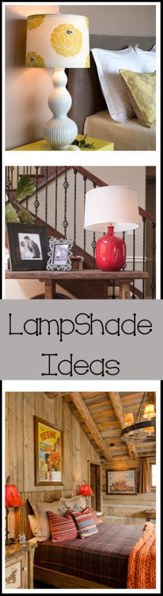 Lampshade Ideas- love lamps! pillow, una lampara, lampshad idea