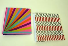 Inspiration: Decorate your binders with color and design!