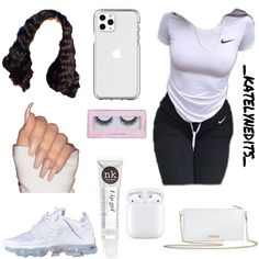 Cute Lazy Outfits, Baddie Outfits Casual, Swag Outfits For Girls, Teenage Girl Outfits, Cute Swag Outfits, Girls Fashion Clothes, Teen Fashion Outfits, Retro Outfits, Stylish Outfits