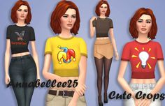Simsworkshop: Cute Crop Top by Annabellee25, • Sims 4 Downloads