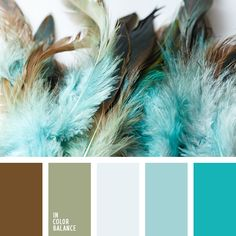 This palette combines turquoise shades that perfectly balance not only with the brown color, but the color of wet cement. Palette diluted with cold turquoise, making it bright enough. This color palette is perfect for spring or summer accessories for light and unobtrusive images