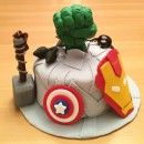 I set out to make the best Avengers birthday cake for a superhero fan. Here's my Avengers cake creation and you'll also find lots more Avenger birthday cake inspiration on the site.