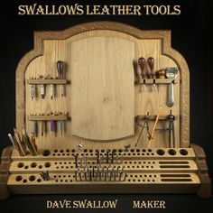 Had the honor and privilege to create this tool rack as an anniversary gift from Maggie Nantz to Britt Nantz at Britt Nantz custom leather. #swallowsleathertools #swallowsleatherart #leathertools #leathercraft #madeintexas