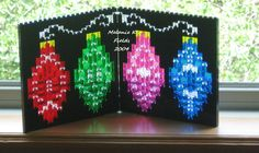 Christmas Ornaments Folding Suncatcher - Custom Kit - Lego by TheMerryBeader on Etsy