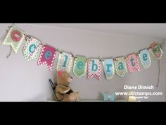 Stampin'  Up!'s Build a Banner Kit Makes Fun Banners for Home Decor Watch the how to video by clicking here!