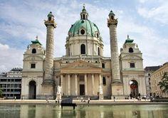 #Karlskirche | #Viena, com 2,3 milhões de habitantes, é a capital da #Áustria e o centro político e cultural do país. O centro histórico é património da UNESCO
