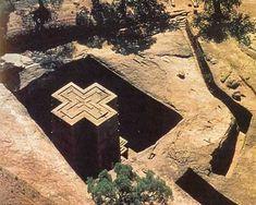 lalibela, st john church  ethiopia, out of rock