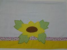 Pano de prato - Meu Gato Amarelo Patchwork