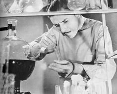 "Ronald Colman as Dr. Martin Arrowsmith in ""Arrowsmith"", a 1931 movie about an idealistic young doctor who tries to find a cure for bubonic plague"