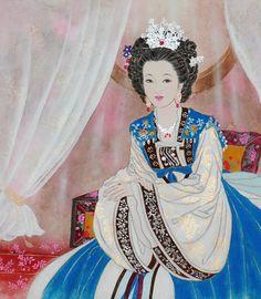 Korean elegance woman by Bak Yeun-ok. 박연옥, 미인도(美人圖)