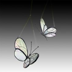 Two Stained Glass Butterflies - MotherDaughter 2 sizes
