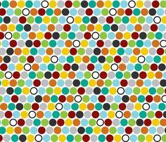 HappyDots fabric by mrshervi on Spoonflower - custom fabric