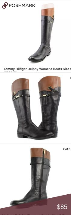 Tommy Hilfiger Delphy riding boots, 2-toned size 8 Tommy Hilfiger Delphy riding boots, 2-toned size 8 Tommy Hilfiger Shoes