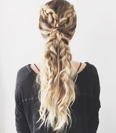 In the hairstyle department, braids are king. Whether you're a fan of the French braid or dig braided buns, pretty plaits hold a place of prestige in every girl's date-night, workweek and off-duty lineups. From braids inside braids to faux hawks and cool Celtic knots, we've hunted down 100 OMG-worthy braids that will up the ante on your hair game (and second-day hair), stat.
