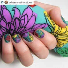 Perfect print  love her work on this stamped mani by the lovely @adventuresinacetone  Finally have an official blogpost up on my @lularoe Floral leggings inspired mani! Head to adventuresinacetone.com for all of the details on how I created this look! #adventuresinacetone  #uberchic #uberchicbeauty  #stampingplate #nails #instanails #nailartaddict #nailstamping #prettynails #nailpolish  #nailstamp #nailpolishaddict #stamping #stampingnailart #nailpro #rockyournails #nailart #nailedit…