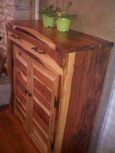 Large Cedar Corner Cabinet Rustic Furniture We Ve Made