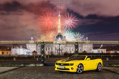 Bastille Day 2015 in Paris | Chevrolet Camaro SS | Rally Yellow [EXPLORE]