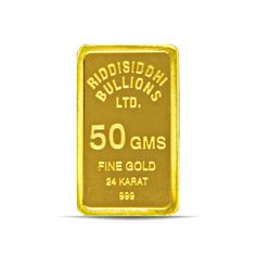 50 Gms 24 KT Gold Bar 999 Purity