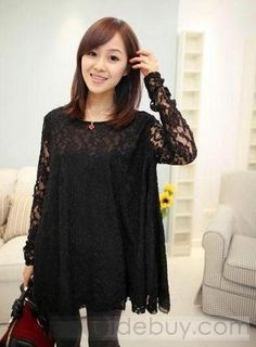 Black, Lace, Cover up, Dress