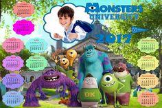 Recursos Photoshop Llanpac: Calendario para el 2017 de Monster University para...