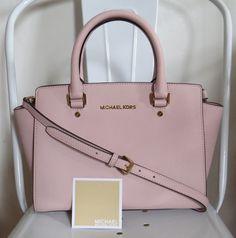 3e9b7303103f16 ... leather satchel 5d331 73f1a uk michael kors medium selma pink blossom  gold satchel crossbody saffiano 298 euc michaelkors crossbody 66192 ...