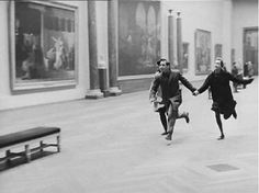 Running through the Louvre  - from the movie Band of Outsiders