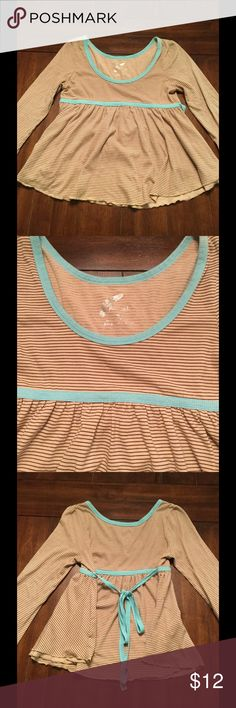 Free People Top Striped long sleeve flowy tee by Free People. Preowned condition. No holes or stains. Smoke free home. Free People Tops