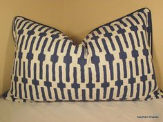The fabric was featured on HGTV- Links Indigo by Annie Seles (100% Cotton - 12.5 repeat). The price includes ONE (select your size above in