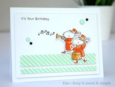 Birthday Card Using MFT Strike Up The Band By KISS