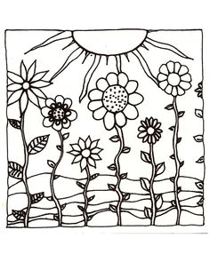 Download Printable Adult Coloring Page digital hand drawn papers