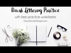How to Do Brush Lettering | Dawn Nicole Designs