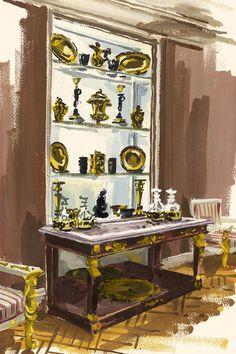 Interior Ilustration by Jeremiah Goodman