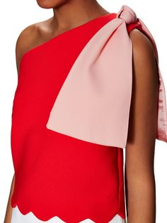 Big Bow Cotton Scalloped Top from Ladylike Designer Must-Haves on Gilt