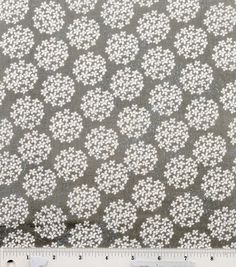 Colorbok Fabric Mono Tiny Blossom Gray & White at Joann.com (for dress or room)