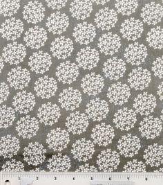 Colorbok Fabric Mono Tiny Blossom Gray & White at Joann.com (for dress or room)