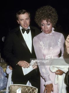 Diahann Carroll and David Frost during 1970 Restoration Ball at Americana Hotel in New York City, New York, United States. Get premium, high resolution news photos at Getty Images Diahann Carroll, African American History, Celebrity Couples, Frost, Restoration, David, United States, Stylish, City
