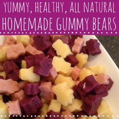 Healthy homemade gummy bears!