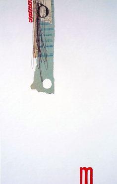 """Beatriz Mahan - """"m"""" (2011) - 29cm x 19cm (11,4in x 7,5in) Collage y tipografía sobre cartón  Ver colección completa"""