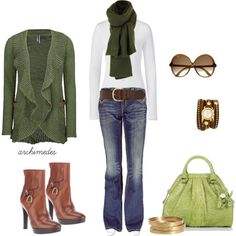 """""""Casual Green"""" by archimedes16 on Polyvore"""