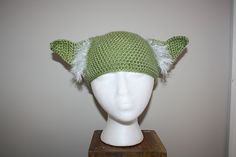 Yoda Hat With White Hair