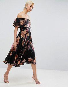 c770b5d7bda5 Discover Fashion Online Asos Dress, Bardot Midi Dress, Vestido Asos,  Clothes For Women