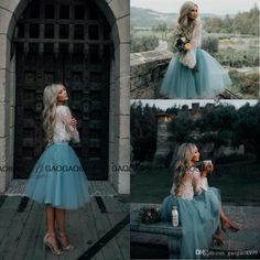 2017 White And Mint Lace Two Pieces Long Sleeve Short Prom Homecoming Dresses Crew Illusion Boho Party Graduation Evening Gowns Cheap Dress Dresses From Gaogao8899, $78.4| Dhgate.Com