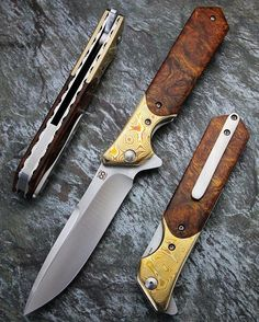 Rainmaker: curved Mokume bolster and ironwood Burl (sold) #olamic #olamicrainmaker #usnstagram #knifepics #knifeporn #knifestagram #knifecommunity #knifecollector #customknife #customknives #allknivesdaily #bestknivesonig #grailknives