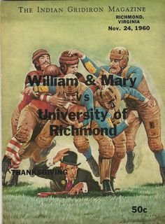William and Mary football program cover - Google Search