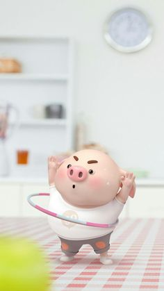 Who Who Hula Hoopin' Piggy Pig Wallpaper, Funny Phone Wallpaper, Disney Wallpaper, This Little Piggy, Little Pigs, Cute Piglets, 3d Art, Pig Drawing, Pig Illustration