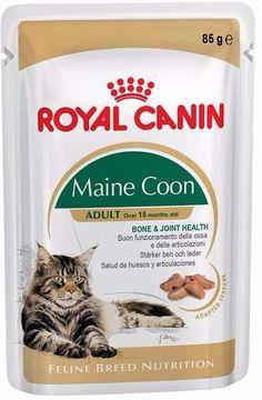 Корм для кошек влажный с соусом , 85г Мейн кун