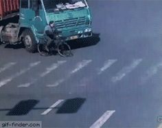 Man Gets Run Over By Massive Truck, Survives   Gif Finder – Find and Share funny animated gifs