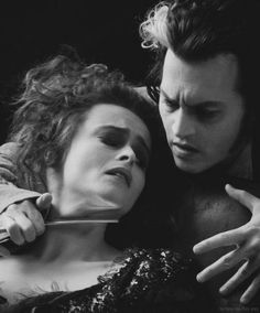 Helena Bonham Carter & Johnny Depp, Sweeney Todd: The Demon Barber of Fleet Street (2007) dir. by Tim Burton