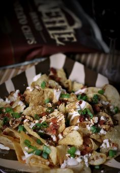 This blue cheese and balsamic kettle chips appetizer was inspired by a restaurant menu favorite. Get this party food recipe here.