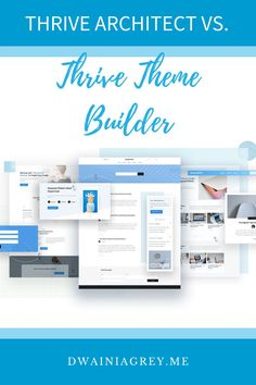 Learn the difference between Thrive Architect (page builder) and Thrive Theme Builder. Use them to build the perfect WordPress website. #thrivethemes #thrivesuite #wordpressthemes #wordpresspagebuilder Blog Layout, Page Layout, Money Making Websites, Create Page, Exactly Like You, Website Header, Building A Website, Website Themes, Help Teaching